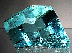 aquamarine gem crystal