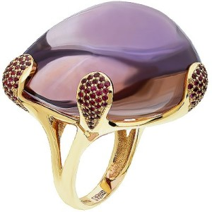 gold ring with ametrine gem