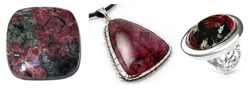 Eudialyte stone