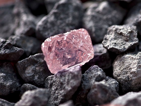 pink rough diamond