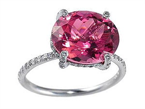 pink tourmaline in ring