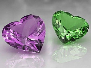 violet and green amethyst