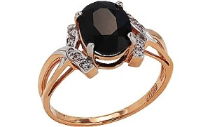 ring with black sapphire